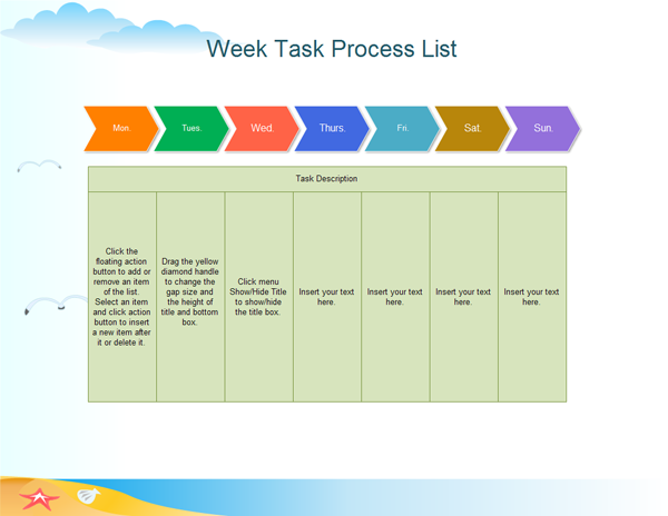 Week Task Process List