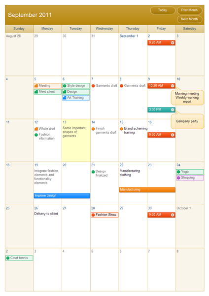 Calendar Software with Time Schedule