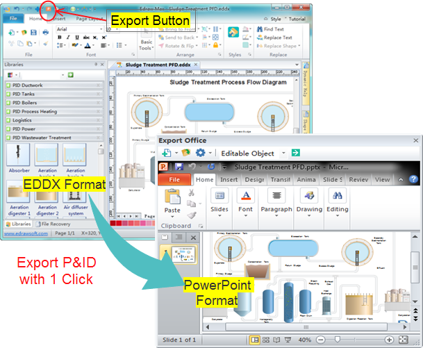 Export P&ID as PowerPoint File