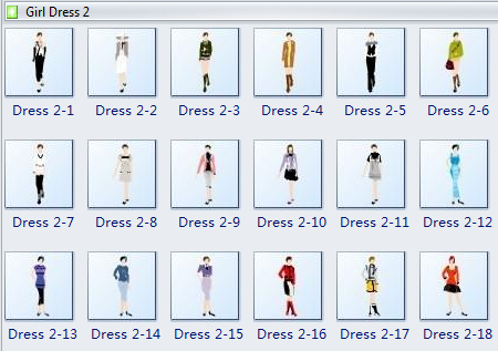 Fashion Design Template - Girl Dress 2