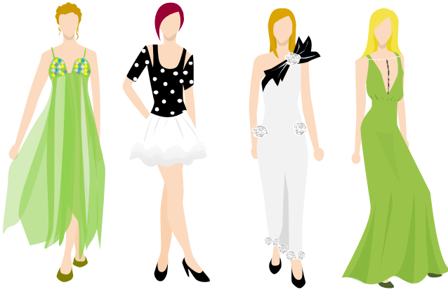 Easy fashion design sketches of dresses