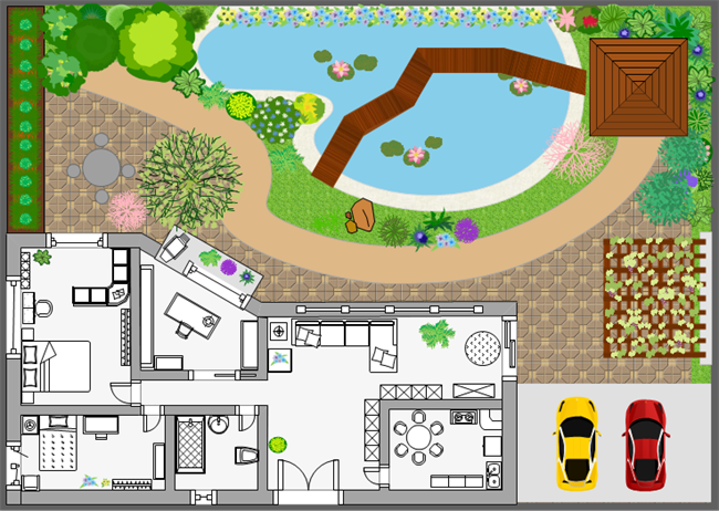 How to draw a landscape plan add more landscaping elements malvernweather Image collections