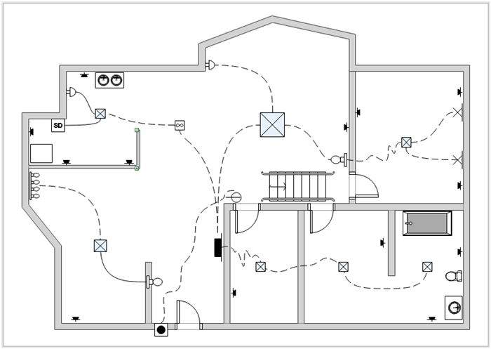 circuit diagram for wiring a house