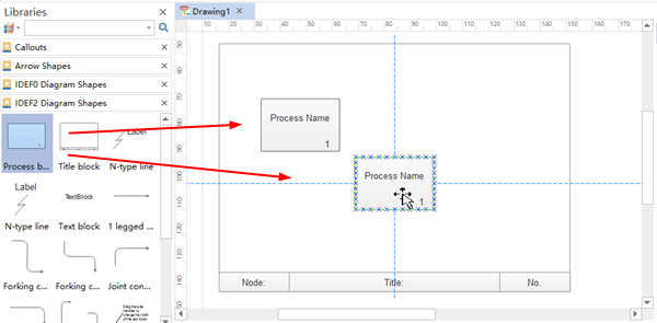 Add Process Boxes for IDEF Diagram