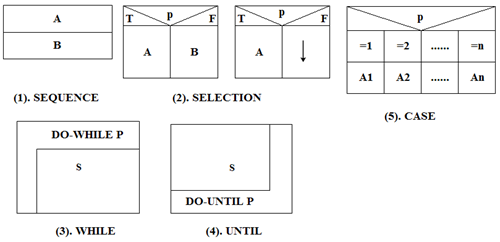 Five Basic Control Structures of N-S Diagram
