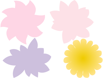 Flower-shaped Stickers