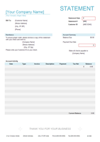 Billing Statement Form Example