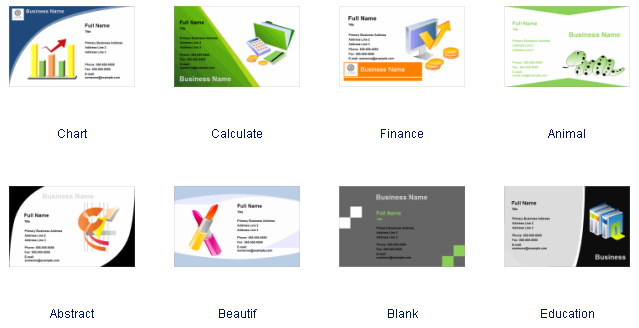 Business card software free business card templates download business card templates wajeb Image collections