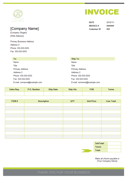 Purchase Invoice Samples