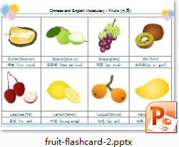 Fruits Flash Card