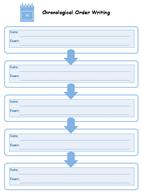 Organizador Gráfico de Escrita Cronológico