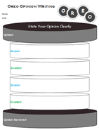 OREO Writing Graphic Organizer