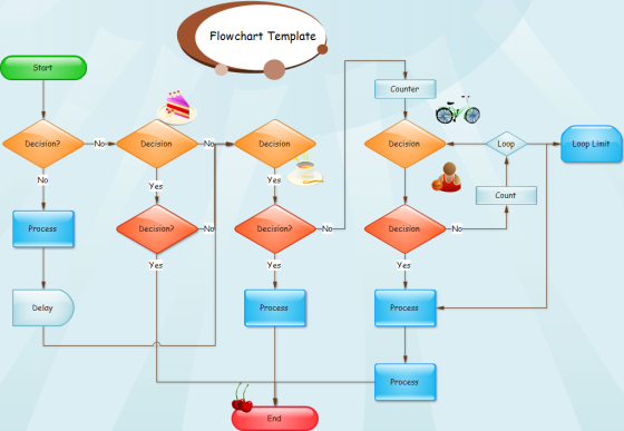 Highlight Flowchart Template
