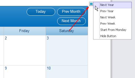 Change date calendar