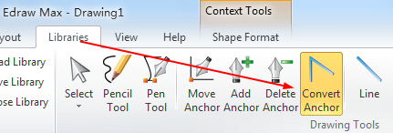 Convert Anchor Point tool