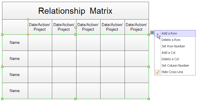 create relationship matrix