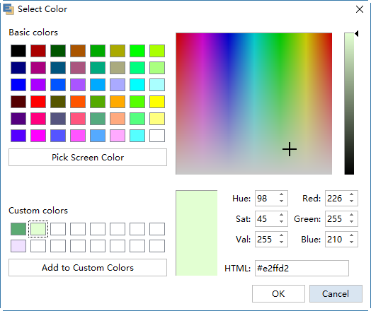 Customize theme color