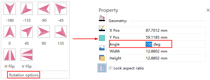 Customize rotation angle