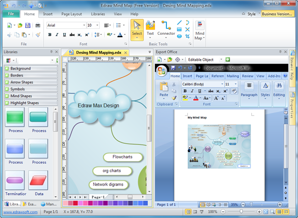 Export diagrams to ms office ccuart