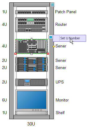 rack diagram templatesset the u value of rack equipment
