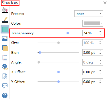 Shadow Transparency