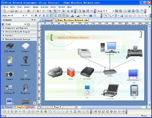 Perfect network diagram design software with abundant examples and templates!