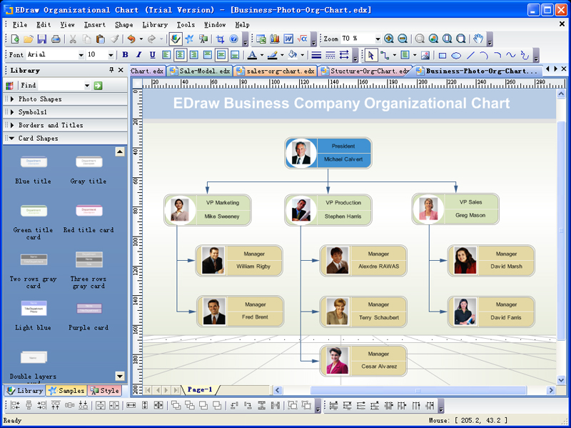 Create Organizational charts and business charts with minimum time loss! well known Screen Shot