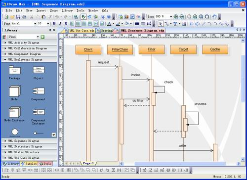 Professional UML Diagrams and Software Diagrams Drawing Tools with Examples. quick Screen Shot