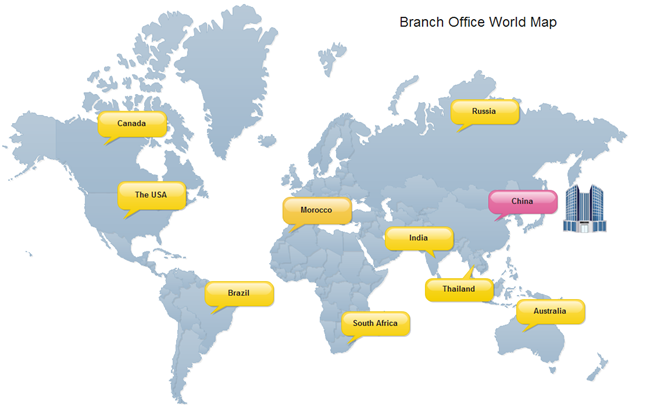 Customizable World Map Presentation Templates With