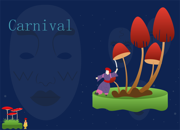 Carnival Card Template