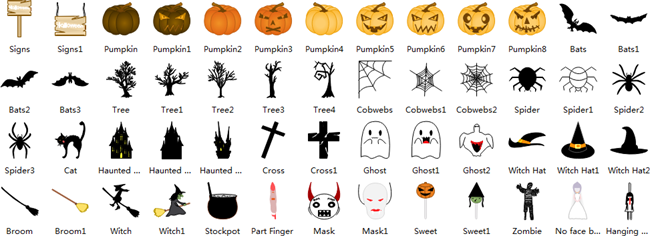 Halloween Card Shapes
