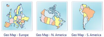 Geo Map Software - Europe, America