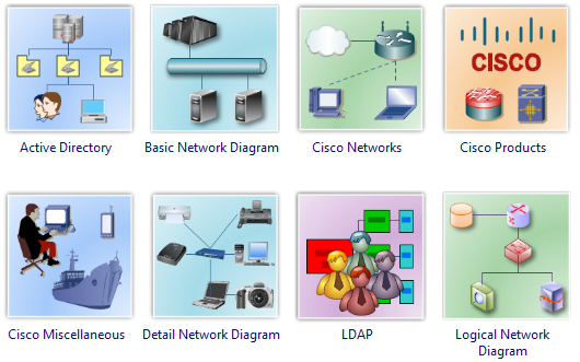 Draw Network with Network Diagram Templates