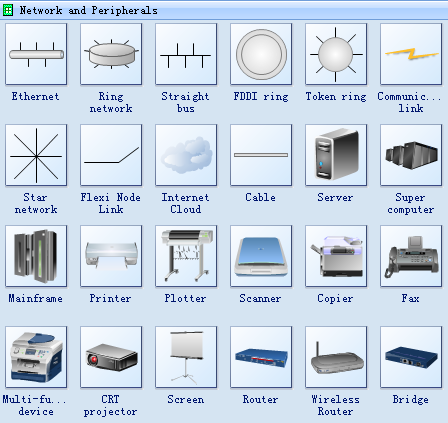 Network Symbols - Network and Peripherals