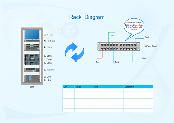 rack diagram softwareexamples of rack diagram