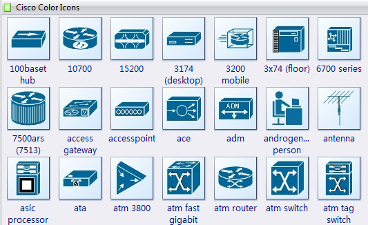 Cisco Color Icons Shapes