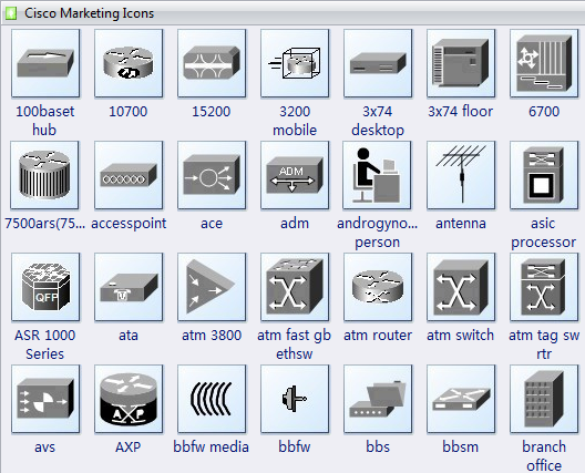 Cisco Marketing Icons Shapes