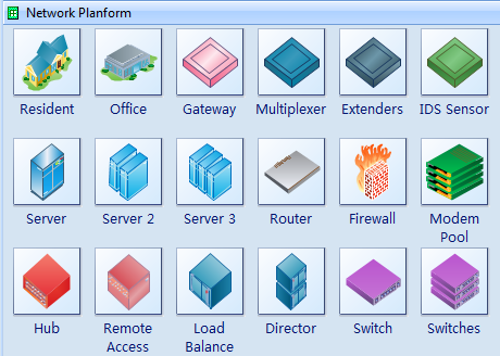 Network Planform Symbols