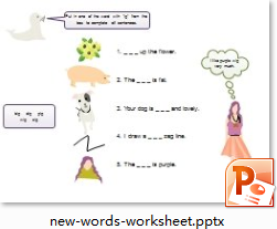New Words Worksheet