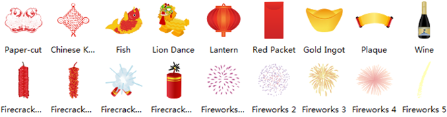New Year Card Symbols