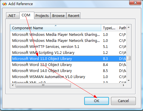 Embedding and Automating Microsoft Word from Visual Basic