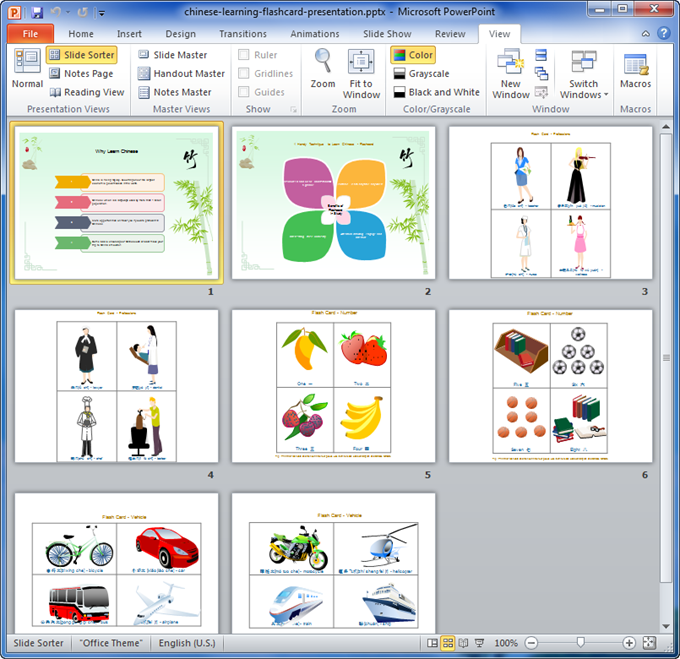 Presentation Template: Chinese Learning