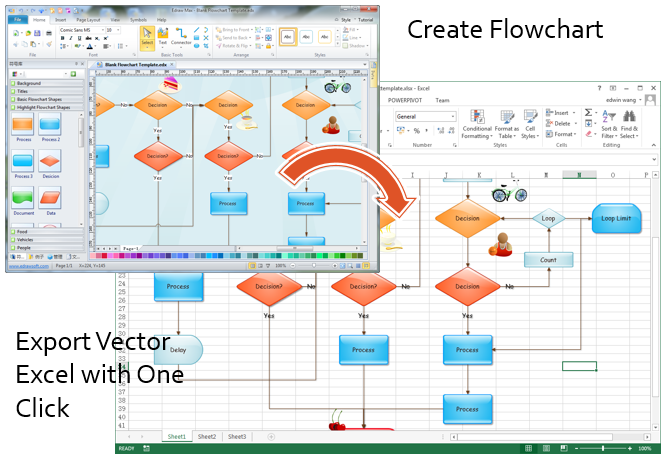 make greatlooking flowcharts in excel
