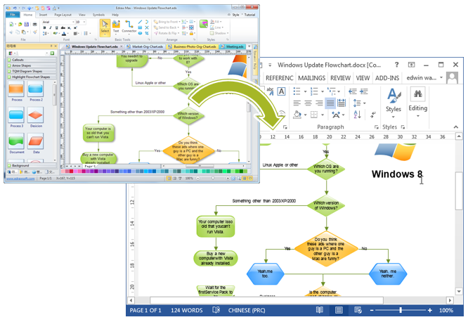 Flowcharts In Word  Flow Chart Word Template