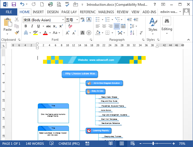 mind map in word