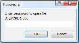 Open Password Protected Word, Excel, PowerPoint File