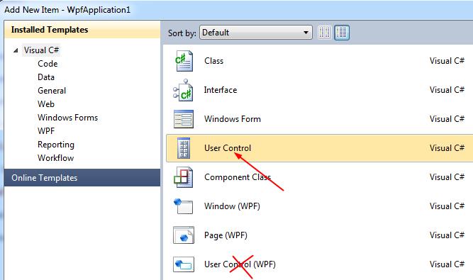 add user control