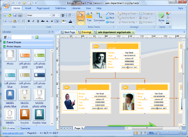 create organization charts in microsoft word - Org Charting Software