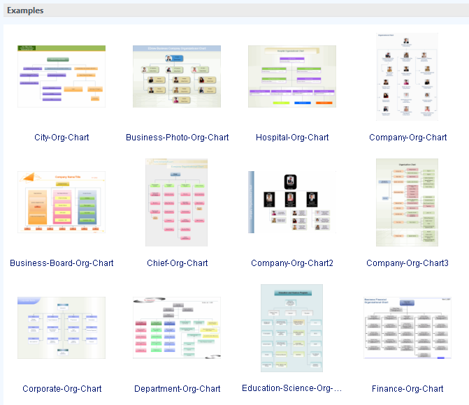 custom organizational charts with examples and templates