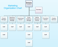 marketing department organizational chart
